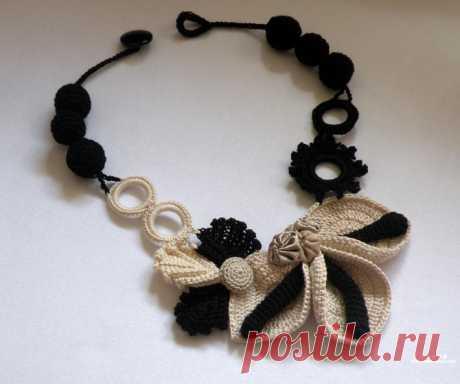 Красивые украшения, связанные крючком — Рукоделие