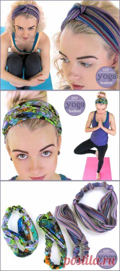 Эластичный Йога ободки: плиссе и Тюрбан Стили | Sew4Home