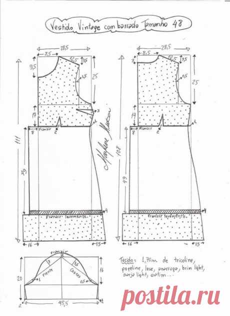 Выкройка платья с завышенной талией (Шитье и крой) – Журнал Вдохновение Рукодельницы