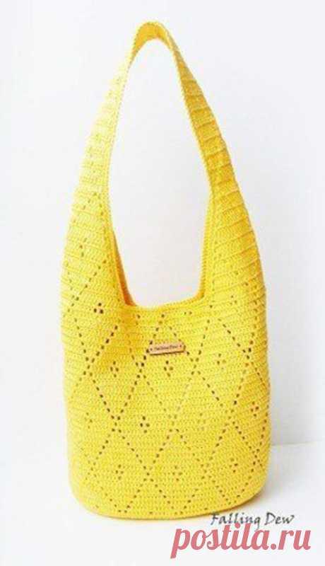 Вязаные сумки крючком – это необычный аксессуар! (Вязание крючком) – Журнал Вдохновение Рукодельницы