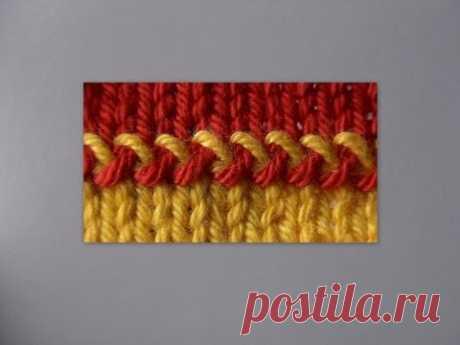 Вязание спицами - Секреты мастерства - Декоративное соединение вязаных полотен