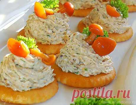 Грибная закуска на крекерах   Официальный сайт кулинарных рецептов Юлии Высоцкой