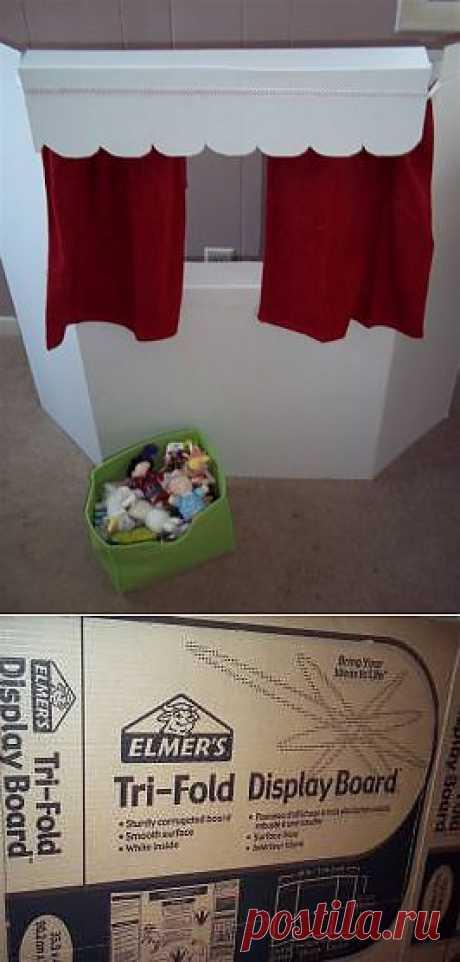 Ширма для театра кукол из картона - Тематические декорации - Костюмы, реквизит, декорации