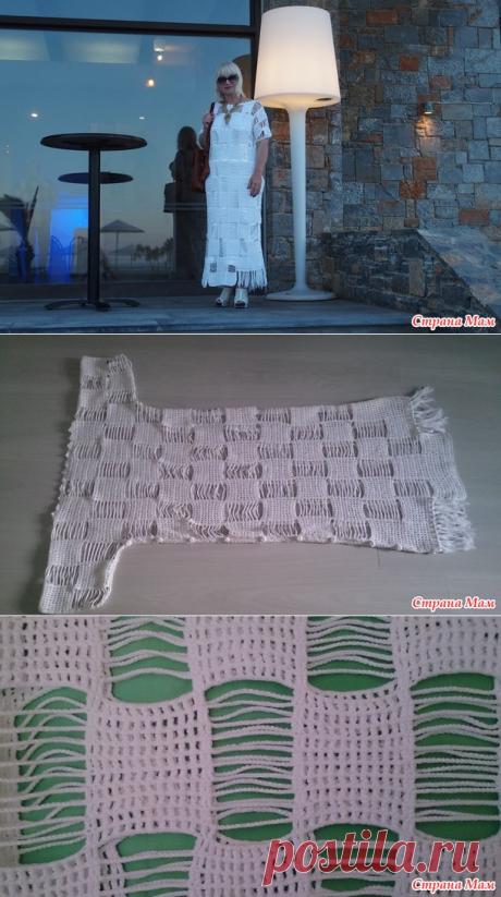 . Критское платье. Филейное вязание - Вязание - Страна Мам
