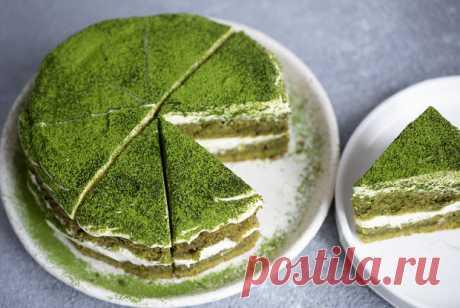 Торт «Зеленый бархат» с сырным кремом рецепт – авторская кухня: выпечка и десерты. «Еда»