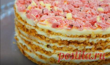 """Торт без выпечки """"Пломбир"""". Самый модный торт из крошки!"""