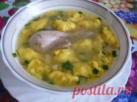 Суп с галушками рецепт приготовления | ХозОбоз - мы знаем о еде все..