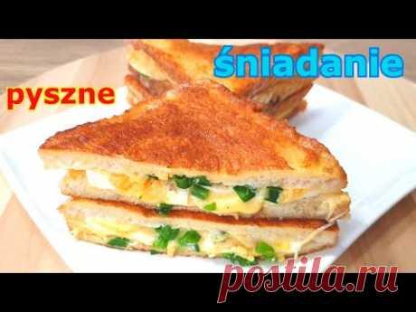 Chleb w jajku jeszcze smaczniejszy 👌 niesamowicie pyszne śniadanie - tosty francuskie z jajkiem 👍