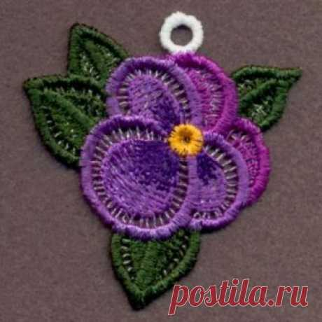 Créatrices Broderie Machine - FSL Pansy Ornaments