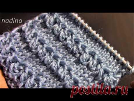 """ОБЪЕМНЫЕ КРАСИВЫЕ горизонтальные """"ДОРОЖКИ"""" /knitting pattern/#узорспицами#связатьузорспицами"""