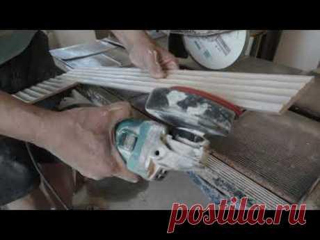 Подготовка и укладка настенной плитки в ванной комнате часть 1