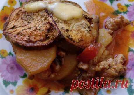 Запеканка из овощей и фарша Автор рецепта Ксения13 - Cookpad