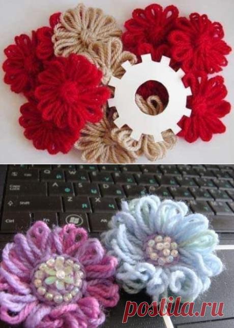 Цветок на шестеренке — Сделай сам, идеи для творчества - DIY Ideas