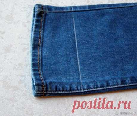2 простых способа укоротить джинсы не меняя фабричную строчку   Провинциалка в теме   Яндекс Дзен