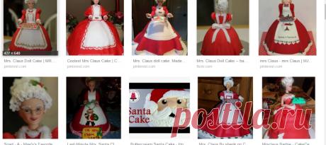 Mrs Claus doll cake - Google Търсене