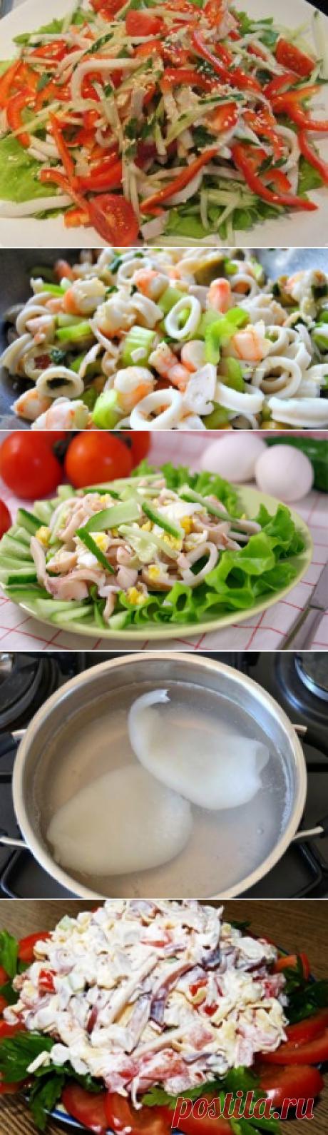 Простые и вкусные рецепты салатов из кальмаров