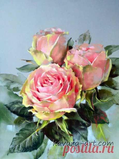 Роза — символ совершенства, мудрости и чистоты... Художница Вера Кавура. Розы Роза — символ совершенства, Мудрости и чистоты. Признано её главенство, Средь цветочной пестроты. В лепестках хранит…