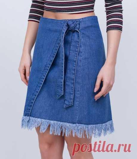 Джинсовая юбка из старых джинсов (42 фото)
