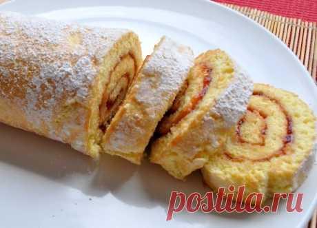 Бисквитный рулет за 5 минут — восхитительный десерт по простому рецепту - Простые рецепты Овкусе.ру