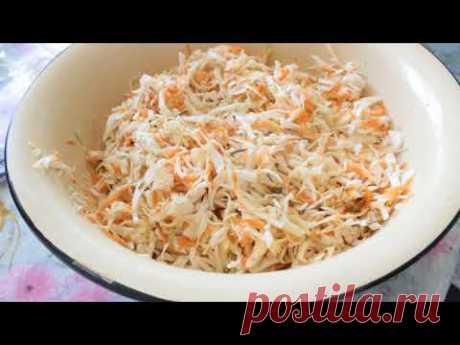 Квашенная Капуста!(Хрустящая и Сочная) + 2 Салата! Sauerkraut Recipe