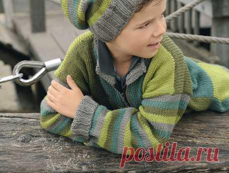 Пуловер с узором из разноцветных квадратов - схема вязания спицами с описанием на Verena.ru