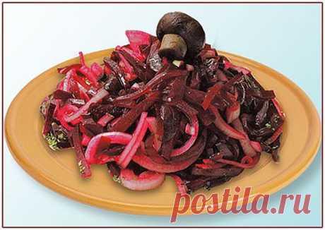 Салат из свеклы с грибами | Со вкусом