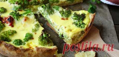 Пирог с брокколи – рецепты открытой и закрытой выпечки