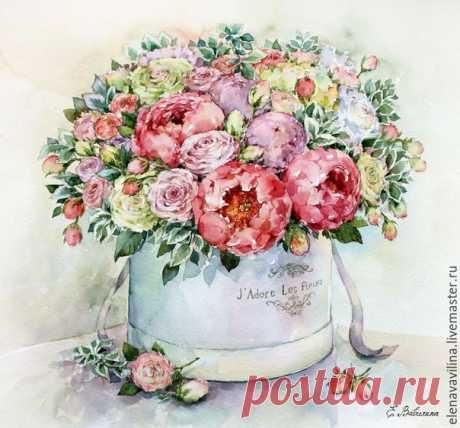 Нежные цветочные иллюстрации
