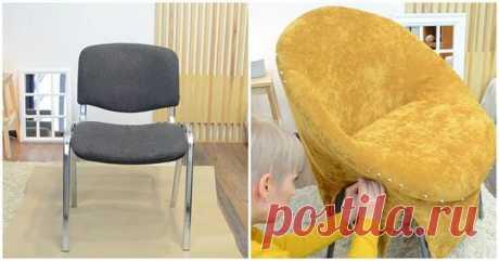 Переделка офисного стула своими руками Казалось бы, как можно переделать обыкновенный дешёвый офисный стул так, чтобы он стал новым и потрясающим элементом интерьера? Такая переделка выглядит стильно, а, самое главное, совершенно неожиданн...