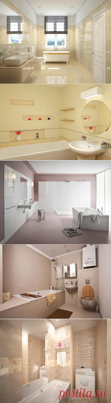 Дизайн ванной комнаты в теплых тонах и оттенках