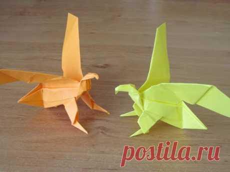 Как сделать ОРЛА ПТИЦУ из бумаги Бумажный ОРЕЛ Поделка Птица How to make Paper EAGLE ORIGAMI