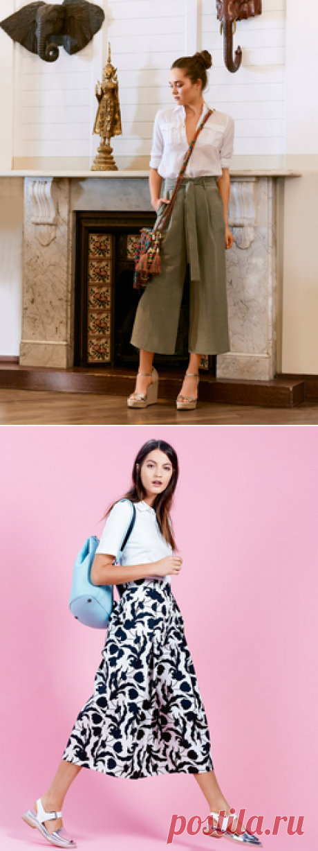С чем носить широкие брюки — BurdaStyle.ru