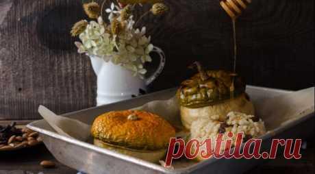 Тыквенные горшочки с изюмом и яблоками — Вкусные рецепты