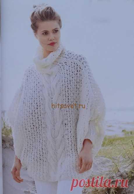 Вязание пуловера летучая мышь - Хитсовет Вязание пуловера летучая мышь. Стильный женский пуловер летучая мышь с бесплатным описанием и схемой вязания. Вам потребуется 450 грамм белой пряжи Vela Lana Grossa, состоящей из 40 % полиамида, 21 % мериносовой шерсти, 19 % полиакрила, 10 % мохера, 10 % альпаки (суперфайн), длиной нити 100 метров в 50 граммах; спицы № 7 и № 8, круговые спицы № 8.