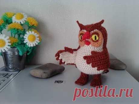"Сова из ""Винни Пух"", ч.2. Owl from the ""Winnie the Pooh"", р.2. Amigurumi. Crochet.  Амигуруми."