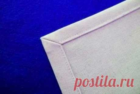Как выполнить идеальные уголки «конвертом»: 2 способа — Мастер-классы на BurdaStyle.ru