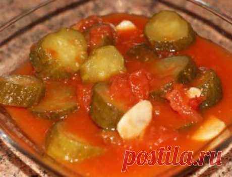 Рецепт огурцов в томате, но без томатного сока