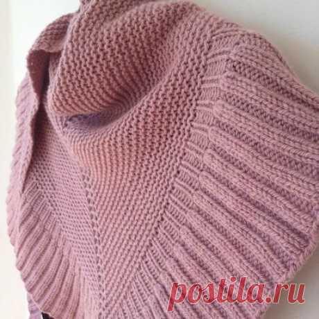 "SHAWL of \""MARA\"" (Knitting by spokes) | Inspiration of the Needlewoman Magazine"