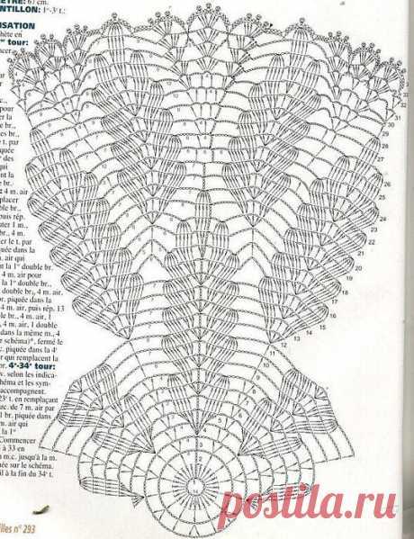 Очень красивая салфетка (Вязание крючком) — Журнал Вдохновение Рукодельницы