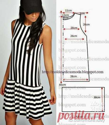Еще одна коллекция очень простых выкроек летних платьев. - Декор своими руками