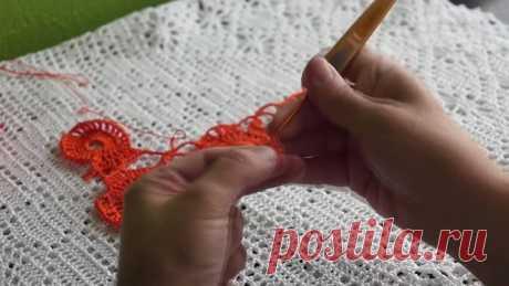 Мотивы безотрывным способом 2( knitted motif)