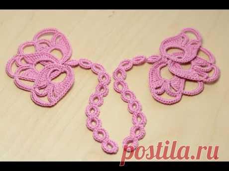 La labor de punto por el gancho la YEMA de la FLOR - el motivo para el encaje irlandés crochet irish lace