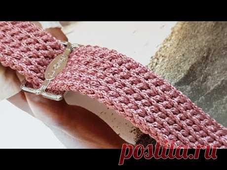 Мастер-класс плоского жгута крючком ❤ crochet pattern.