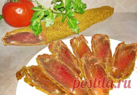 Как приготовить мясной деликатес «Бустурма» дома – подробный фото рецепт - Кулинарный блог