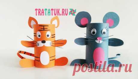 «Мышка из втулки от туалетной бумаги» — карточка пользователя Лора Мудрая в Яндекс.Коллекциях