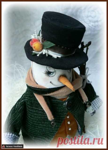 Интерьерная игрушка Снеговик ручной работы купить в Минске и Беларуси, цены на HandMade