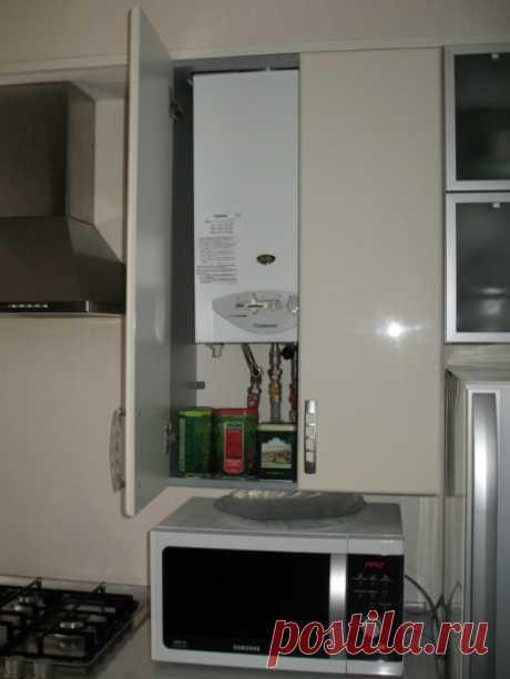 Кухня с газовой колонкой: как ее замаскировать своими руками, инструкция, фото и видео-уроки