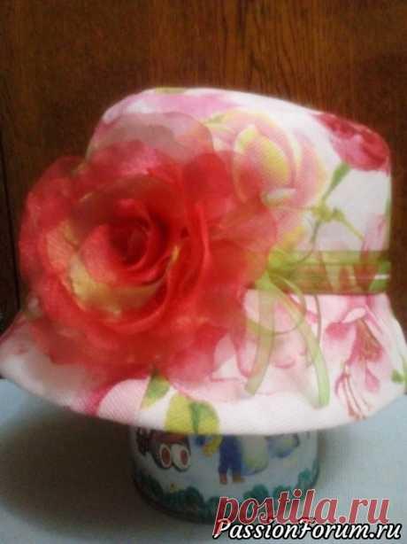 Летняя шляпка. Мастер-класс   Швейная мастерская