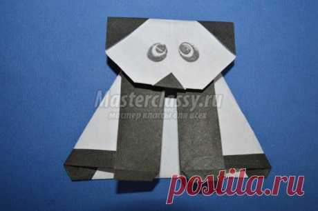 Оригами животные. Панда. Мастер-класс с пошаговыми фото