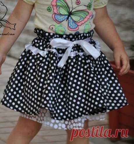 MK por la costura de la falda pomposa con fatinovym pod'yubnikom: como por las medias horas coser la faldita para el niño
